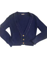 Sandro Blue Cotton Knitwear