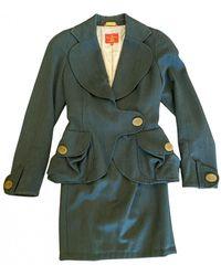 Vivienne Westwood Wool Suit Jacket - Green