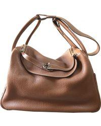 Hermès - Pre-owned Vintage Lindy Brown Leather Handbags - Lyst