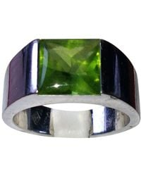 Cartier Tank Green White Gold Ring