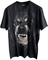 Givenchy Black Cotton Rottweiler Print Cuban Fit T-shirt L
