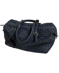 Bottega Veneta Leather Bowling Bag - Blue