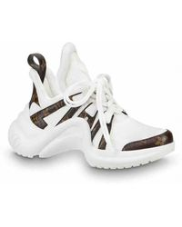 9eb87236d698 Lyst - Louis Vuitton Pre-owned Archlight Cloth Trainers in White