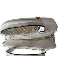 Michael Kors Brooklyn Leather Handbag - White