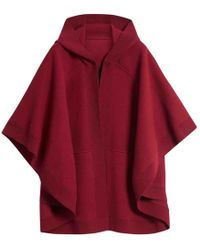 Burberry - Pre-owned Burgundy Wool Jackets - Lyst
