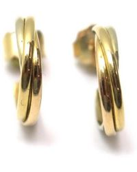 Cartier - Trinity Gold Yellow Gold Earrings - Lyst
