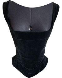Vivienne Westwood Velvet Corset - Black