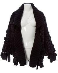 Dior Pull.Gilets en Laine Noir