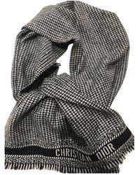 Dior Pañuelos en lana gris