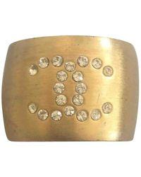 Chanel Anello in metallo dorato - Metallizzato