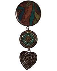Marni Broche en metal multicolor