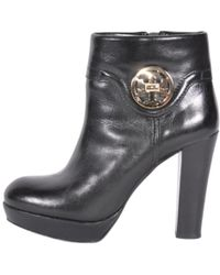 Tory Burch - Leather Biker Boots - Lyst
