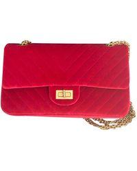 Chanel 2.55 Samt Handtaschen - Rot