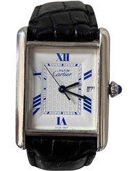 Cartier Reloj en plata plateado Tank Solo - Metálico