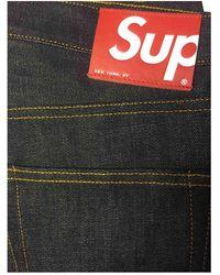 Supreme Blue Cotton Jeans