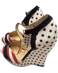 Oscar de la Renta Cloth Sandals - Multicolor