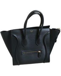 Céline Luggage Black Leather Handbag
