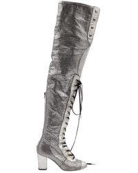 Chanel Leder Stiefel - Mettallic