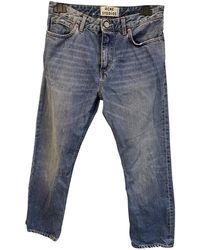 Acne Studios Pop Straight Jeans - Blue
