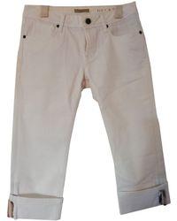 Burberry Short Jeans - White