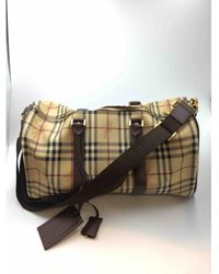 Burberry Beige Cloth Bag - Multicolour