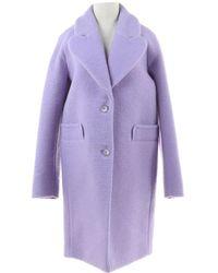 Carven \n Purple Wool Coat