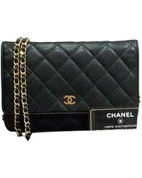 Chanel Wallet on Chain Leder Cross body tashe - Schwarz