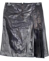 Chanel Jupe en Cuir Noir - Multicolore