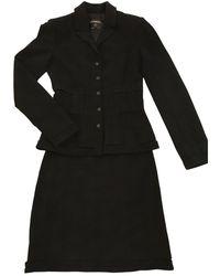 Chanel Wolle Kostüm - Schwarz