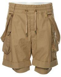 Balmain Shorts Baumwolle Beige - Natur