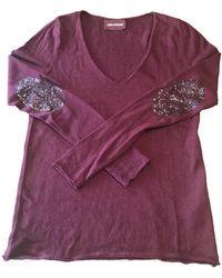 Zadig & Voltaire Pull.Gilets en Laine Bordeaux - Violet