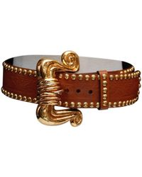 Christian Lacroix Leather Belt - Brown