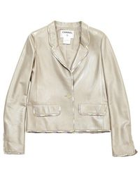 Chanel Giacca in cotone beige \N - Neutro