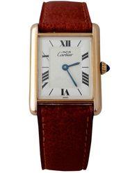 Cartier Reloj en bermellón crudo Tank Must - Multicolor