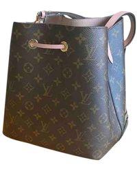 Louis Vuitton Néonoé Brown Cloth Handbag