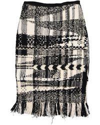 Oscar de la Renta Black Wool Skirt