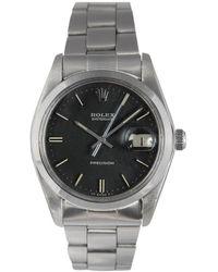 Rolex Reloj en acero negro Oysterdate 34mm