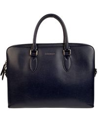 Burberry Leather Satchel - Blue