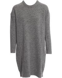 6ba171d7acc Lyst - Acne Studios Phebe Shet Wool Sweaterdress in Gray