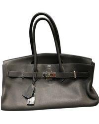 Hermès Birkin Shoulder Leder Handtaschen - Grau