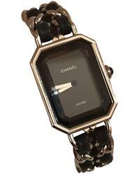 Chanel Montres Première Rock en Acier Noir