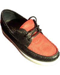 Louis Vuitton Mocassini in pitone rosso