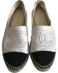 Chanel Leather Espadrilles - White