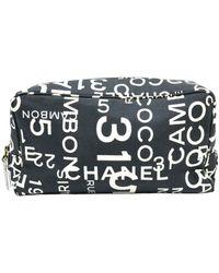 Chanel Trousse de toilette en toile - Noir