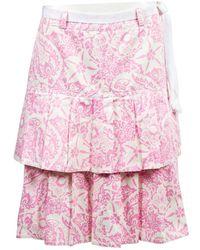 Oscar de la Renta Pink Cotton Skirt