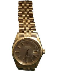 Rolex - Oyster Perpetual 36mm Yellow Gold Watch - Lyst