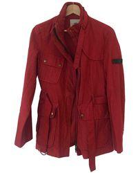 Burberry Cazadora en algodón rojo