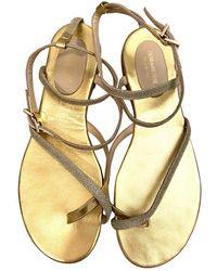 Zadig & Voltaire Leather Sandal - Metallic
