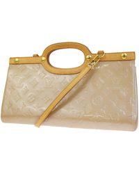 Louis Vuitton Bolsa de mano en charol beige Roxbury - Neutro
