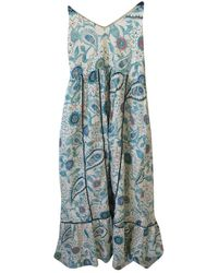 Zadig & Voltaire Ss19 Silk Maxi Dress - Natural